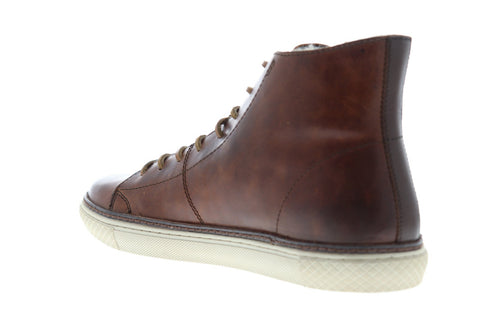Frye Gates High Mens Brown Leather High Top Lace Up Sneakers Shoes