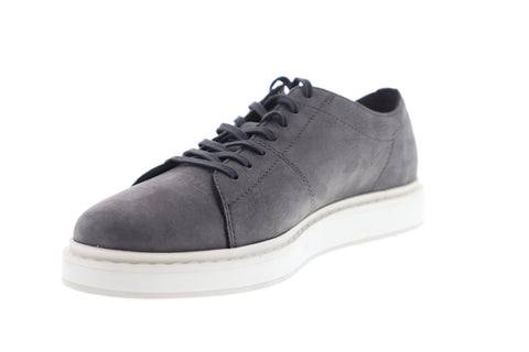 Frye Mercer Low Lace Mens Gray Nubuck Low Top Lace Up Sneakers Shoes