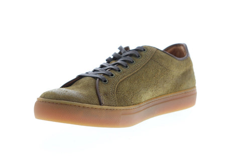 Frye Walker Low Lace 81219 Mens Chestnut suede Lace Up Low Top Sneakers Shoes