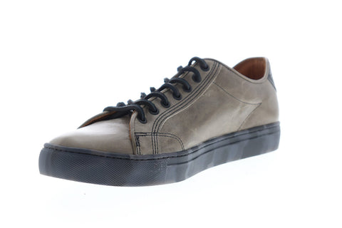 Frye Walker Low Lace 81234 Mens Grey Leather Lace Up Low Top Sneakers Shoes