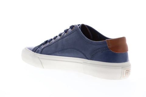 Frye Ludlow Cap Low Lace 81292 Mens Blue Leather Low Top Sneakers Shoes