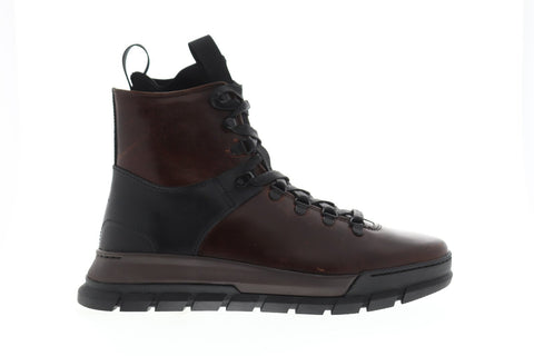 Frye Explorer Hiker Mens Brown Leather Hiking Lace Up Boots Shoes