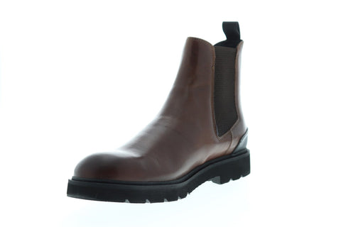 Frye Terra Chelsea Mens Brown Leather Casual Dress Slip On Boots Shoes