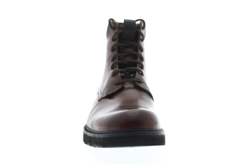 Frye Terra Lace Up Mens Brown Leather Casual Dress Lace Up Boots Shoes