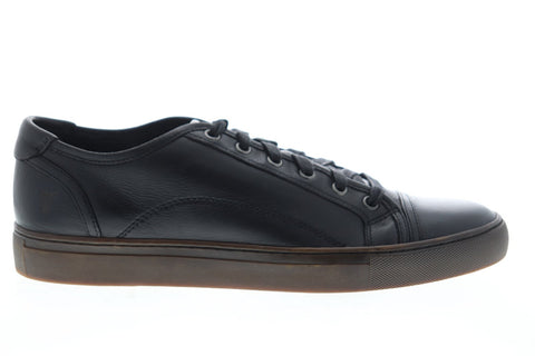 Frye Justin Low Lace 81330 Mens Black Leather Lace Up Low Top Sneakers Shoes