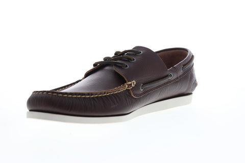 Frye Briggs 81366 Mens Brown Leather Casual Lace Up Boat Shoes