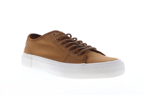 Frye Ludlow Low 81491 Mens Brown Canvas Lace Up Low Top Sneakers Shoes