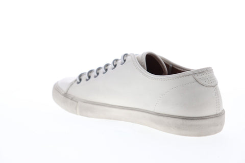 Frye Brett Low 81499 Mens White Leather Lace Up Low Top Sneakers Shoes