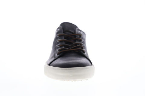 Frye Brett Low 81519 Mens Black Leather Lace Up Low Top Sneakers Shoes
