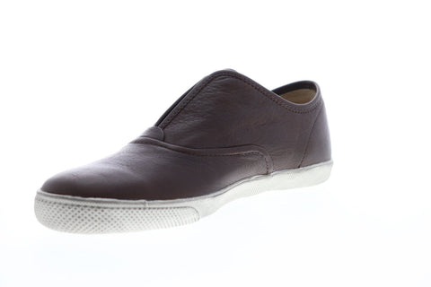Frye Chambers Slip 81531 Mens Brown Leather Slip On Sneakers Shoes