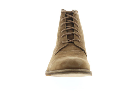 Frye Sam Lace Up Mens Brown Suede Casual Dress Lace Up Boots Shoes