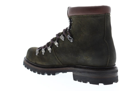 Frye Wyoming Hiker Mens Green Suede Hiking Lace Up Boots Shoes
