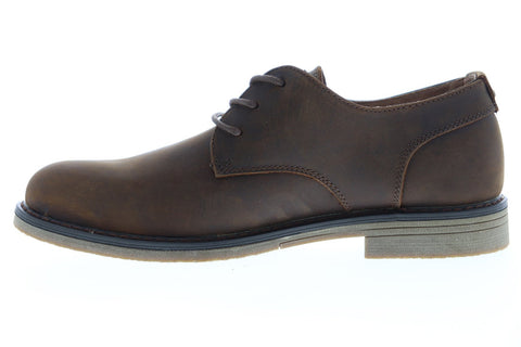 Nunn Bush Linwood 84717-200 Mens Brown Leather Lace Up Casual Oxfords Shoes