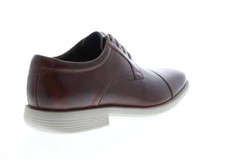 Nunn Bush Dixon Cap Toe Mens Brown Leather Casual Dress Oxfords Shoes