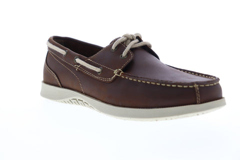 Nunn Bush Bayside 84756-200 Mens Brown Leather Lace Up Casual Boat Shoes