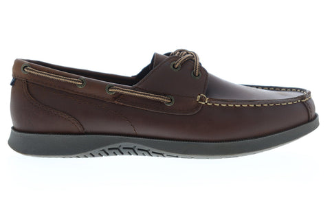 Nunn Bush Bayside 84756-201 Mens Brown Leather Lace Up Casual Boat Shoes