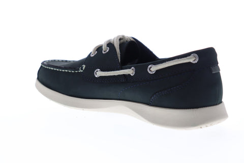 Nunn Bush Bayside 84756-410 Mens Blue Leather Lace Up Casual Boat Shoes