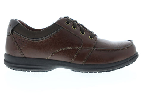 Nunn Bush Stefan 84790-200 Mens Brown Synthetic Lace Up Casual Oxfords Shoes