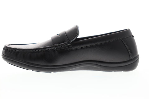 Nunn Bush Brentwood Moc Toe Penny Mens Black Casual Dress Loafers Shoes