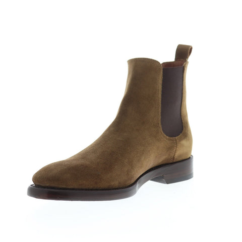 Frye Weston Chelsea 85048 Mens Chestnut suede Slip On Boots Shoes