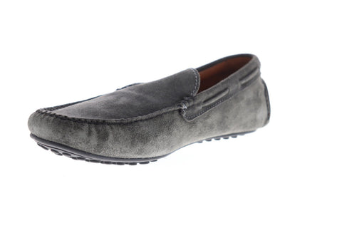 Frye Allen Venetian Mens Gray Suede Casual Dress Slip On Loafers Shoes