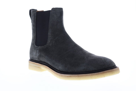 Frye Chris Crepe Mens Gray Suede Casual Dress Slip On Boots Shoes