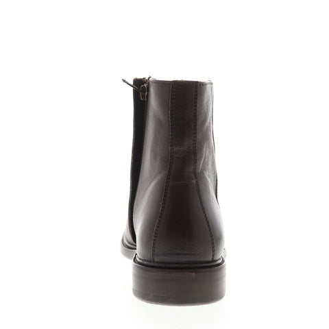 Frye Chris Inside Zip 86955 Mens Brown Leather Zipper Casual Dress Boots
