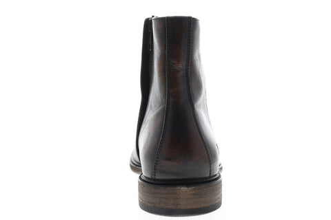 Frye Chris Inside Zip 86957 Mens Brown Leather Zipper Casual Dress Boots Shoes