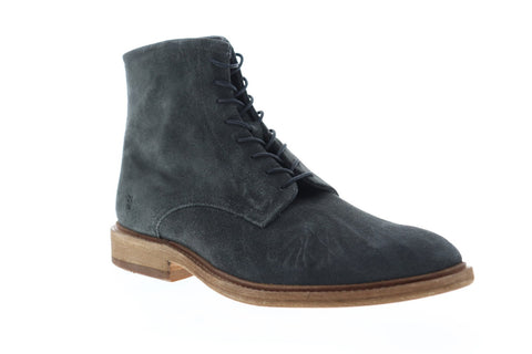 Frye Chris Lace Up 86960 Mens Gray Suede Casual Dress Boots