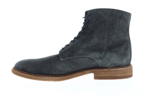Frye Chris Lace Up Mens Gray Suede Casual Dress Lace Up Boots Shoes