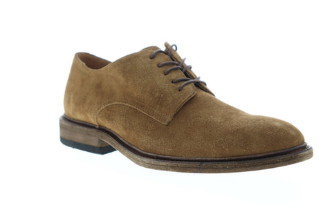 Frye Chris Oxford Mens Brown Suede Casual Dress Lace Up Oxfords Shoes