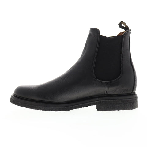 Frye Country Chelsea 86986 Mens Black Leather Slip On Boots Shoes