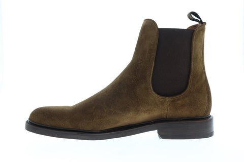 Frye Jones Chelsea Mens Brown Suede Casual Dress Slip On Boots Shoes