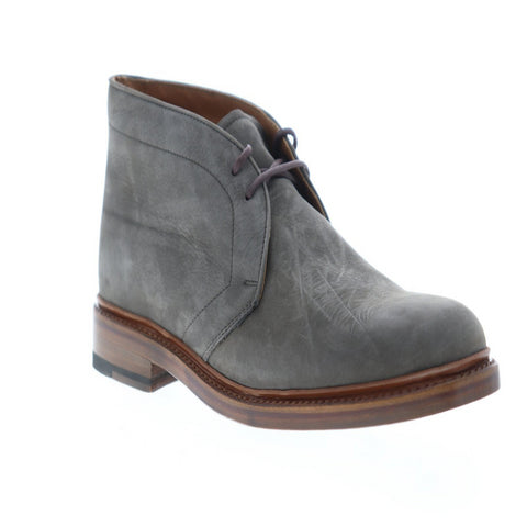 Frye Jones Chukka Mens Gray Nubuck Casual Dress Lace Up Chukkas Shoes