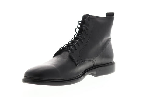 Frye Patrick Lace Up Mens Black Leather Casual Dress Lace Up Boots Shoes
