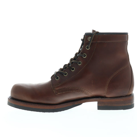 Frye John Addison Lace Up 87083 Mens Brown Leather Casual Dress Boots Shoes