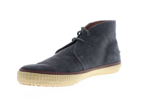Frye Emory Chukka 87093 Mens Gray Suede Lace Up Chukkas Boots Shoes