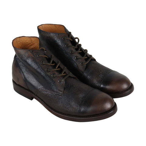 Frye Will Chukka Mens Brown Leather Casual Dress Lace Up Boots Shoes