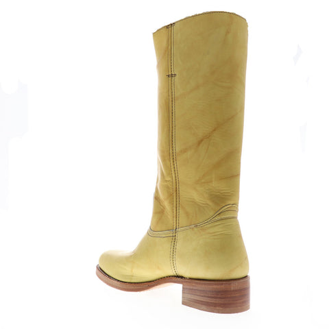 Frye Campus 14L 87290 Mens Yellow Leather Slip On Casual Dress Boots Shoes