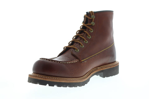 Frye Dakota Mid Lace 87327 Mens Brown Leather Lace Up Casual Dress Boots Shoes