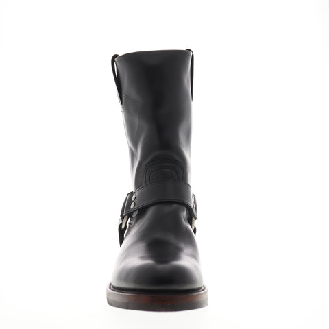 Frye John Addison Harness 87362 Mens Black Casual Dress Strap Boots Shoes