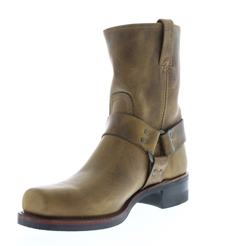 Frye Harness 8R Mens Brown Leather Casual Dress Slip On Boots Shoes