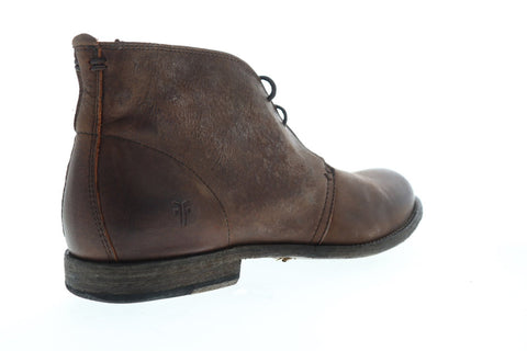 Frye Phillip Chukka 87522 Mens Brown Leather Lace Up Chukkas Boots Shoes