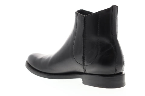 Frye Jet Chelsea Mens Black Leather Casual Dress Slip On Boots Shoes