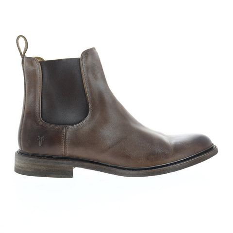 Frye James Chelsea Mens Brown Leather Casual Dress Slip On Boots Shoes