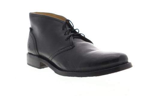 Frye Oliver Chukka 87822 Mens Black Leather Lace Up Chukkas Boots Shoes