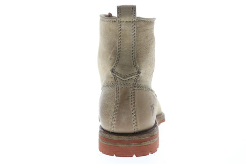 Frye Phillip Lug Workboot 87828 Mens Gray Leather Lace Up Work Boots Shoes