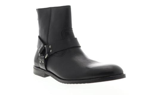 Frye Officer Cuff Boot 87976 Mens Black Leather Casual Dress Boots Shoes