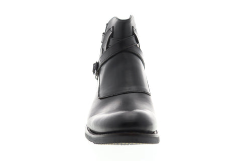 Frye Stone Cross Zipper Mens Black Leather Casual Dress Zipper Boots Shoes