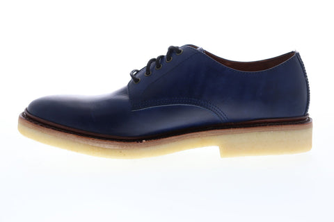 Frye Luke Oxford 88060 Mens Blue Leather Dress Lace Up Oxfords Shoes